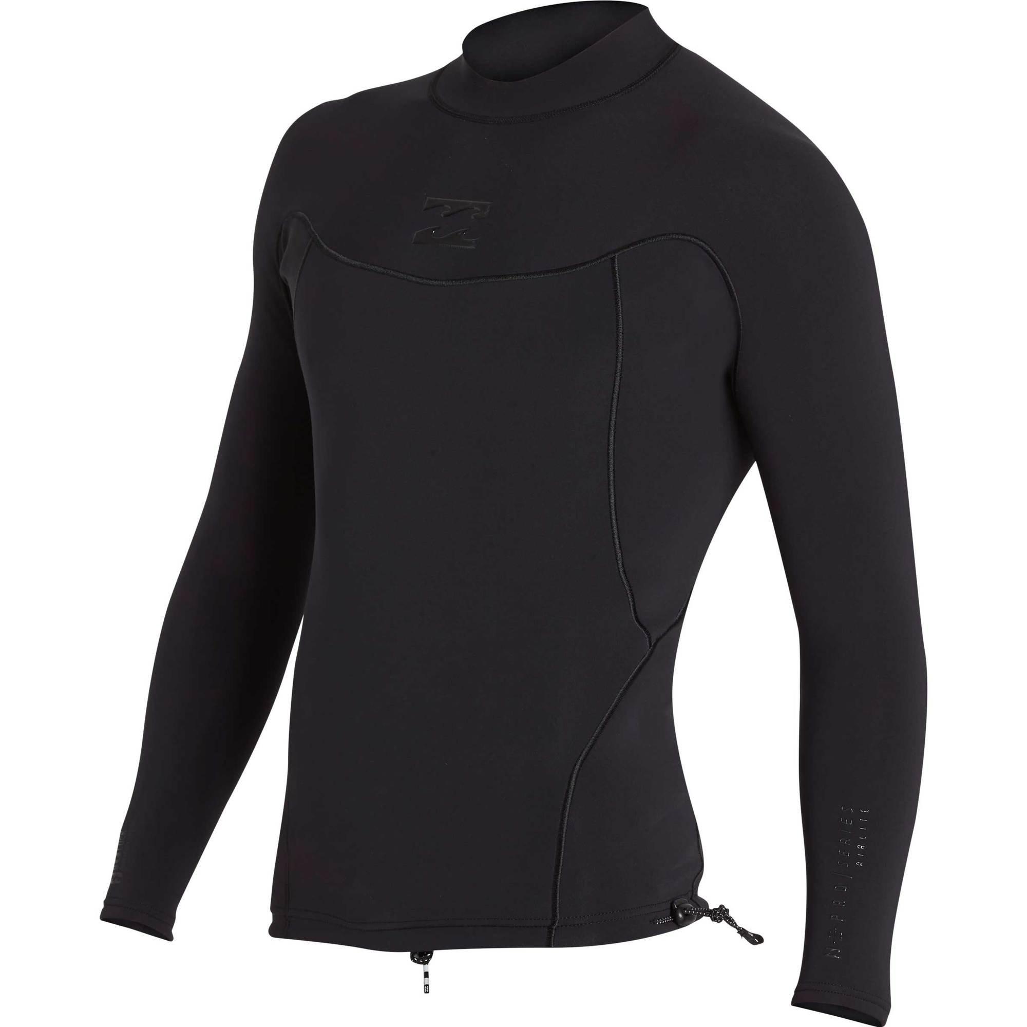Billabong Men's 1Mm Pro Series Airlite Long Sleeve Jacket Black Heather Large