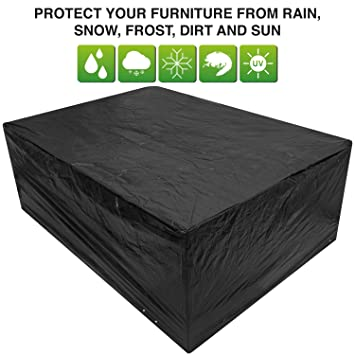 black garden furniture covers. Black Large Patio Set/Oval/Rectangle Table Cover Garden Outdoor Furniture 2.8 M X Covers E