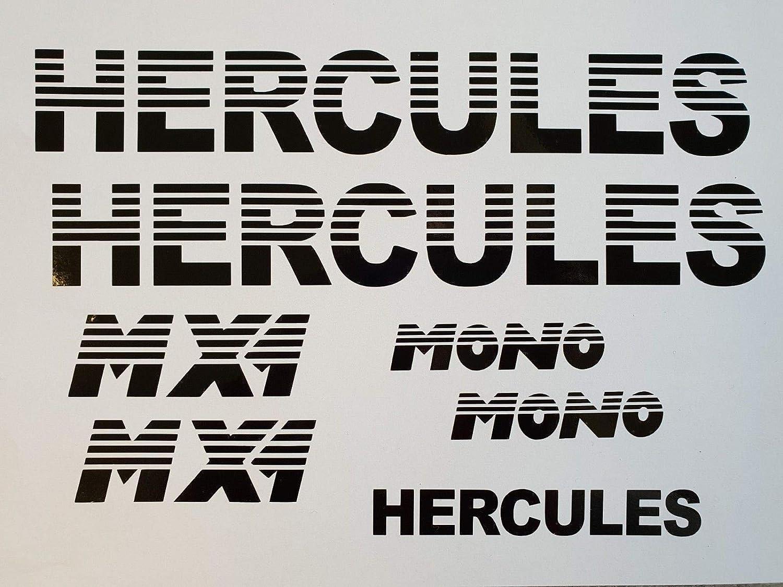 Supersticki Hercules Mx1 Mono Set Ca 30cm Motorrad Aufkleber Bike Auto Racing Tuning Aus Hochleistungsfolie Aufkleber Autoaufkleber Tuningaufkleber Hochleistungsfolie Für Alle Glatten Fläch Auto
