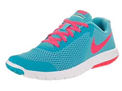 442fd76a4ea NIKE Kids Flex Experience RN 5 (GS) Chlorine Blue Racer Pink Running Shoe