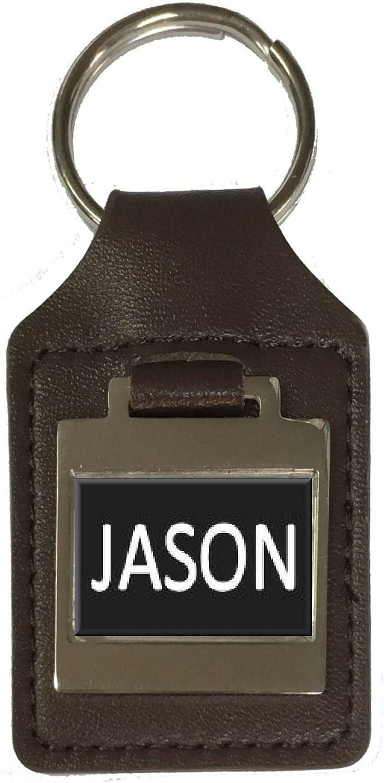 Leather Keyring Birthday Name Optional Engraving Jason