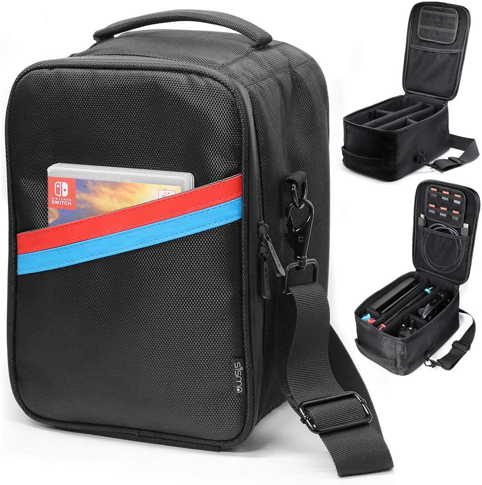 sisma - Maletín de transporte para Nintendo Switch, Estuche universal, Funda de viaje para Nintendo Switch y Accesorios - Negro SVG180402SWB-B: Amazon.es: Videojuegos
