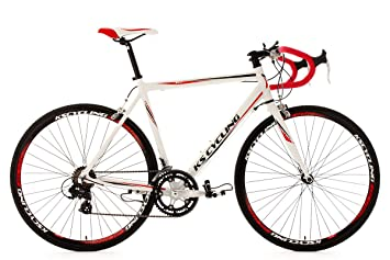 KS Cycling Euphoria RH - Bicicleta de carretera, color blanco / rojo / negro,