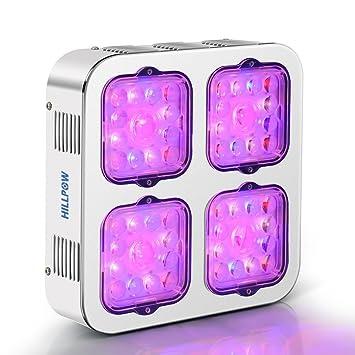 Amazon.com: hillpow luz de cultivo LED 300 W Full Spectrum ...