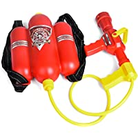 Fireman Toys Backpack Watergun Blaster Extinguisher with Nozzle and Tank Set Children Outdoor Water Toy, Beach Toy…