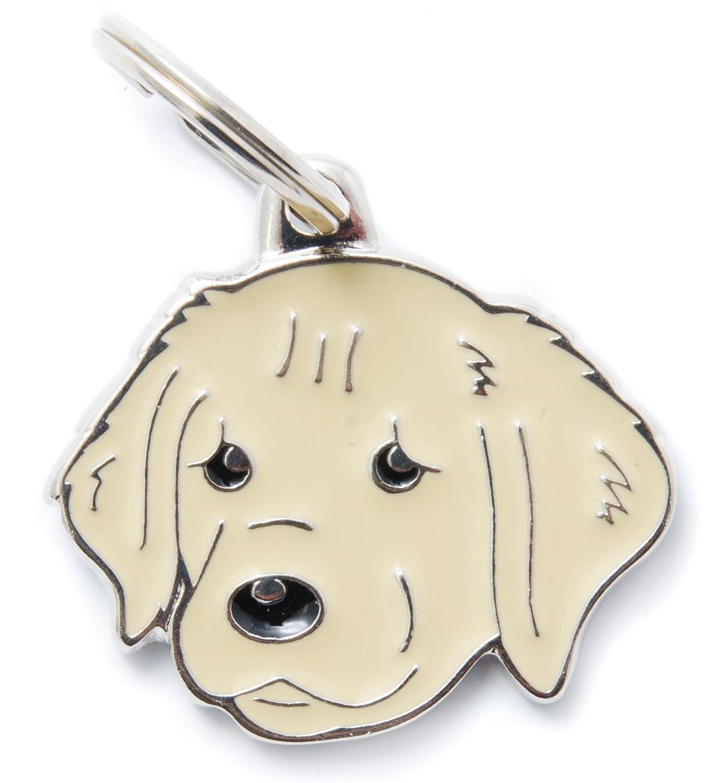 MYFAMILY Médaille Golden Retriever plaque chien gravure gratuite coutume chat MF30