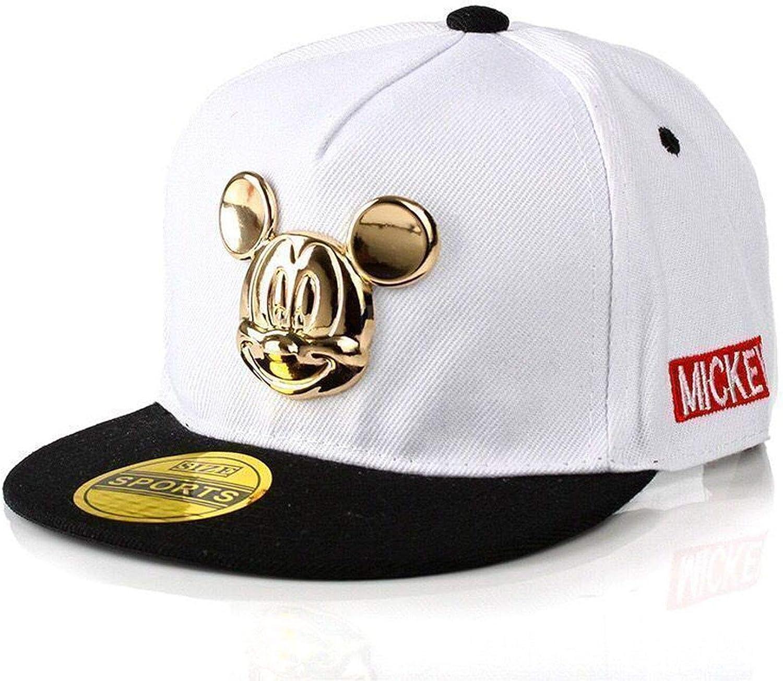 LONIY Spring Summer Gorras 100/% Cotton Pu Leather Baseball Cap Hip-hop Hat Boys Girls Snapback Cartoon Mickey Caps