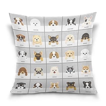 ALAZA manta funda de almohada Funda de cojín (cuadrado funda de almohada, Hipster cachorro