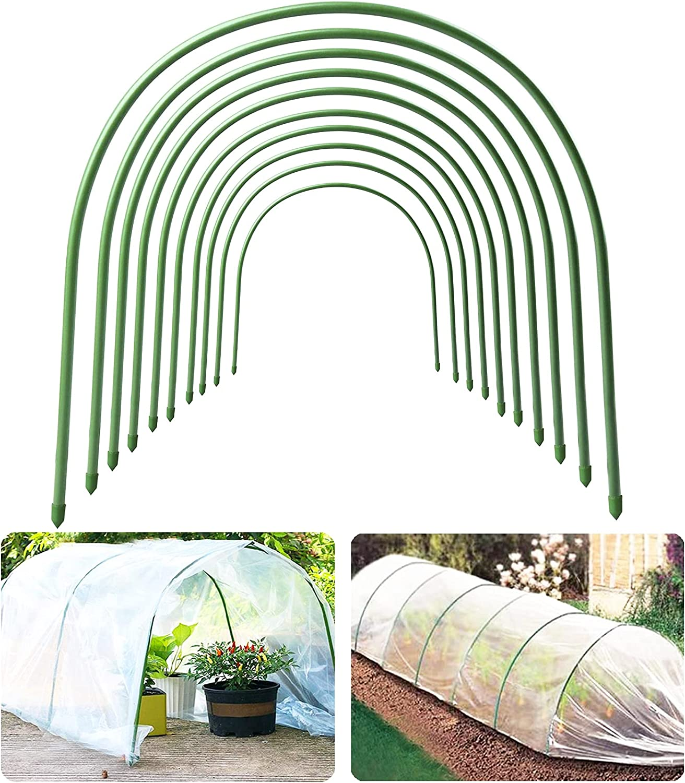 10 Pcs Garden Greenhouse Hoops, 19.7