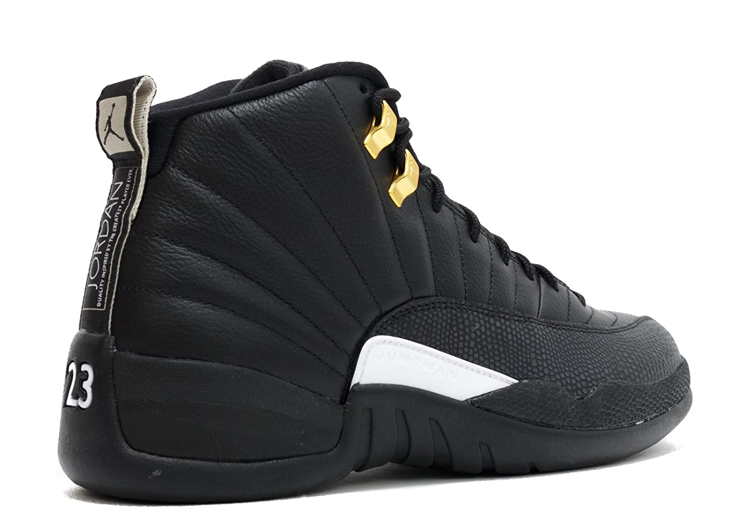 competitive price d9d40 8178f Jordan Men's Air 12 Retro, The Master-Black/White-Black-Metallic Gold (18)