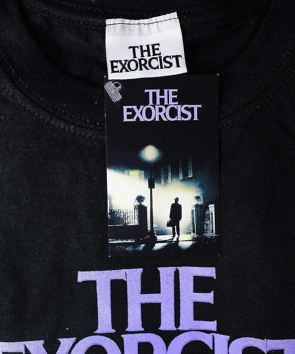T-Shirt Nera Ufficiale Originale 100/% Cotone Maglia Maglietta Tshirt Lesorcista Movie Sheet