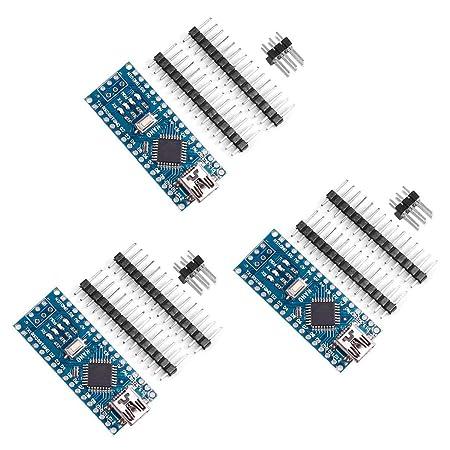 For Arduino Nano V3 0 VANYE Nano board CH340/ATmega328P Compatible with  Arduino Nano V3 0 (pack of 3)