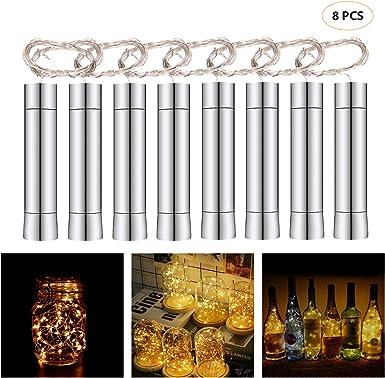 Herefun Cadena Led Luces para Botellas de Vino, 8 x 20 LEDs ...