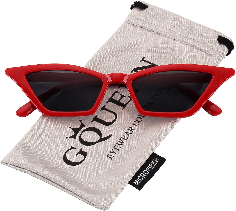 GQUEEN Clout Brille Vintage Cat Eye Sonnenbrille Mod Style UV-Schutz Kurt Cobain Gl/äser,GQS8P