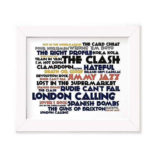 The Clash Poster Print - London Calling - Letra firmada ...