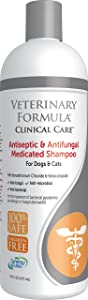 Veterinary Formula Clinical Care Antiseptic and Antifungal Shampoo for Dogs and Cats – Medicated Shampoo to Relieve, Heal and Soothe Fungal and Bacterial Skin Infections