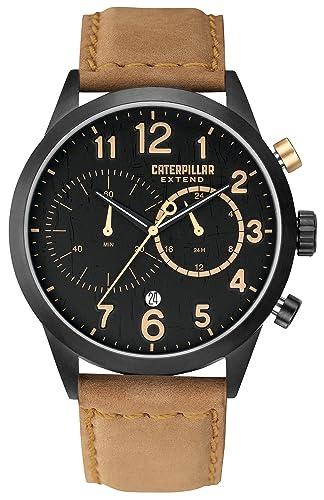Caterpillar EX.163.34.119 - Reloj de pulsera hombre, piel, color beige: Amazon.es: Relojes