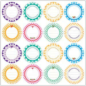 240 Pcs Canning Label Stickers, 2 Inch Round Removable Self -Adhesive Labels with Lines for Writing, for Jar Lids Food Storage Sealing Packaging Labels Canning Stickers