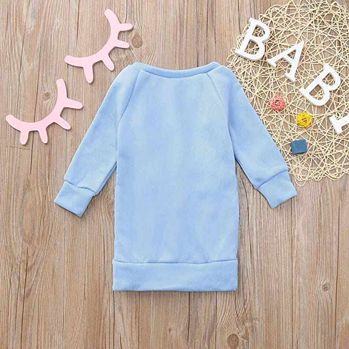 Amazon.com: SUJING Toddler Kids Baby Girl Letter Pullover Sweatshirt Dress Clothes Outfits: Clothing