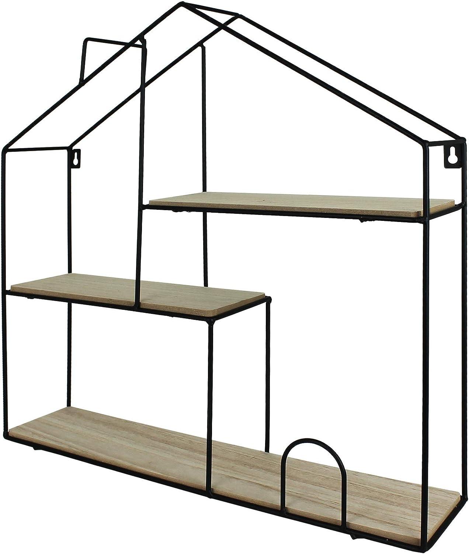 Tw24 Setzkasten Regal Haus Form Wandregal Metall Holz Gross