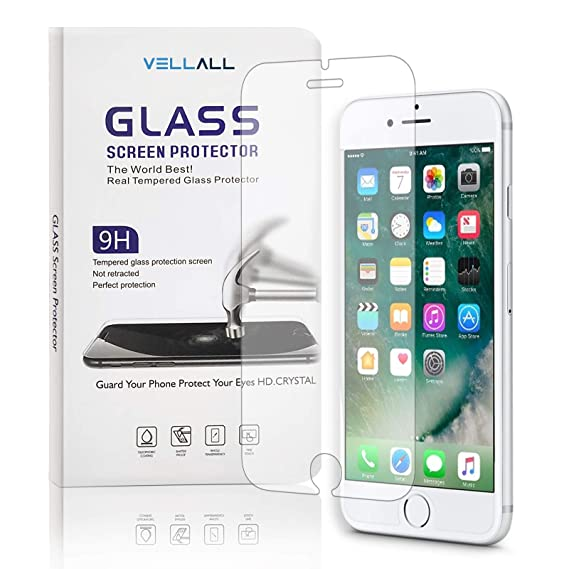 separation shoes 7444d 443f3 iPhone 7 / iPhone 8 Tempered Glass Screen Protector Ultra-Clear HD Protect  Gorilla Glass with Premium Anti-Shatter and Oleophobic Treatment from ...