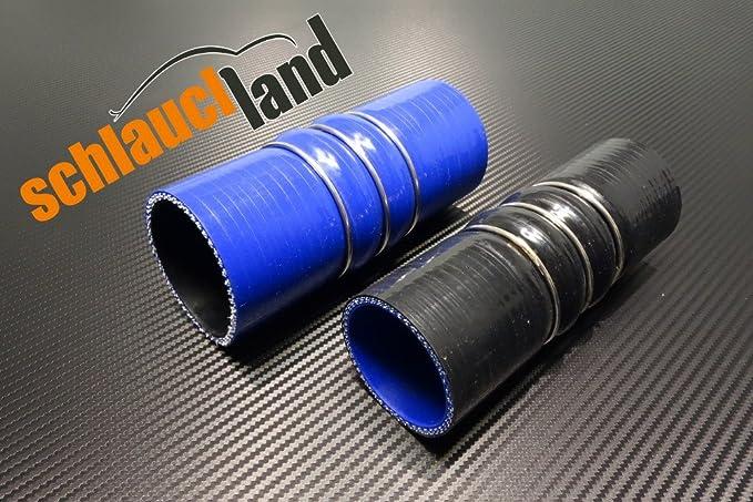 45/° Silikonschlauch Bogen /Ø 32 mm Schwarz K/ühlerschlauch Rohr flexibel Universal Turbo Hose