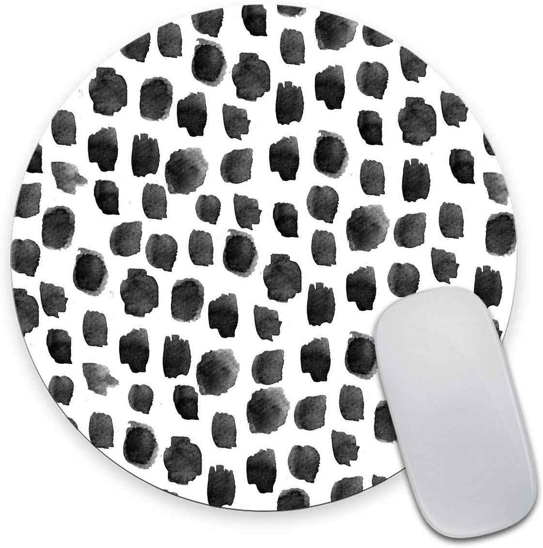 Smooffly Polka Dot Mouse Pad, Polka Dot Print, Dot Pattern, Gift for Her, Cute Round Mousepad, Cute Desk Accessories, Office Decor, Desk Decor, Mouse Pads