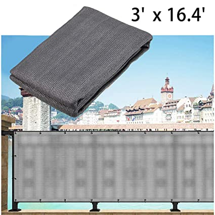Skelang Balcony Privacy Screen Fabric Balcony Railing Cover Shield Mesh  Deck and Fence Privacy Netting Shade for Apartment, Porch, Patio, Lawn, ...