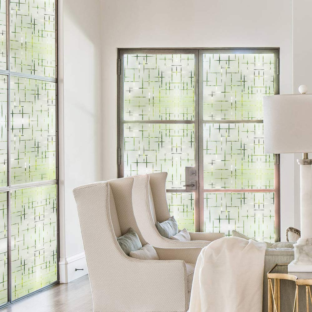 Rabbitgoo 3D Cross Pattern Frosted No Glue Static Cling Privacy Glass Window Films 35.4 x 78.7 35.4 x 78.7 GLOBEGOU CO LTD A069-90