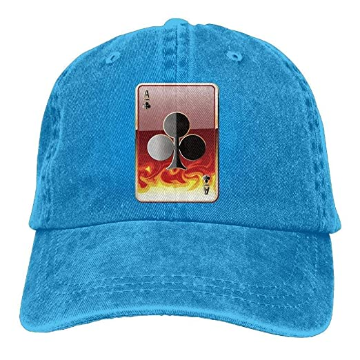 816bae361e9 Amazon.com  Rbfqfm Cool Poker Denim Baseball Hat Sport Cap for Adult ...