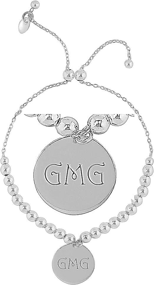 925 Sterling Silver Bracelet with circular engravings