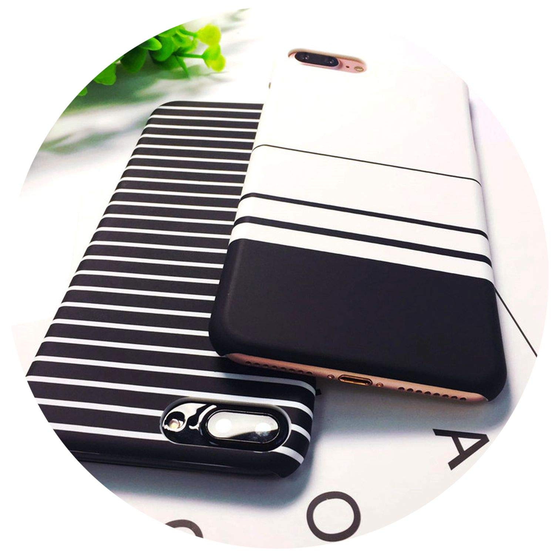 Amazon.com: Personality White Stripe Black Stripes Phone ...