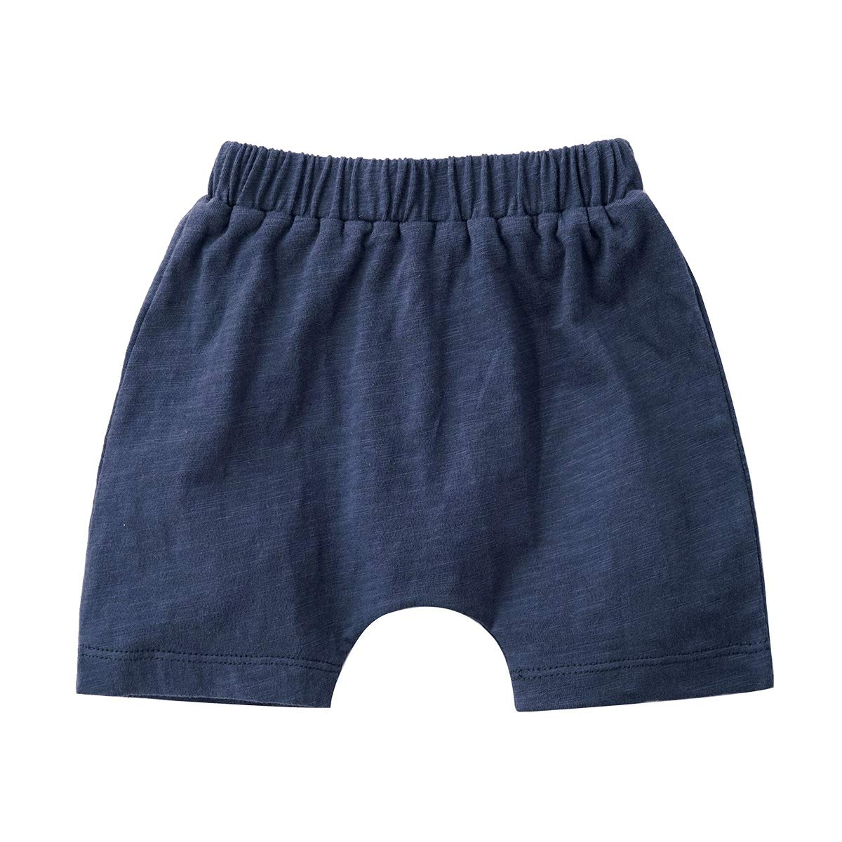 QGAKAGO Infant Baby 3-Pack Cotton Soild Color Short with Drawstring 3-24 Months