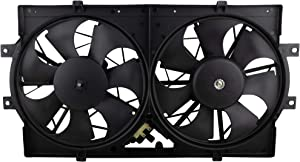 MYSMOT 620-004 Dual Radiator A/C Condenser Cooling Fan Assembly For 1993-1997 Chrysler Concorde Eagle Vision Dodge Intrepid / 1994-1996 Chrysler New Yorker /1994-1997 Chrysler LHS, 4596212, 620160