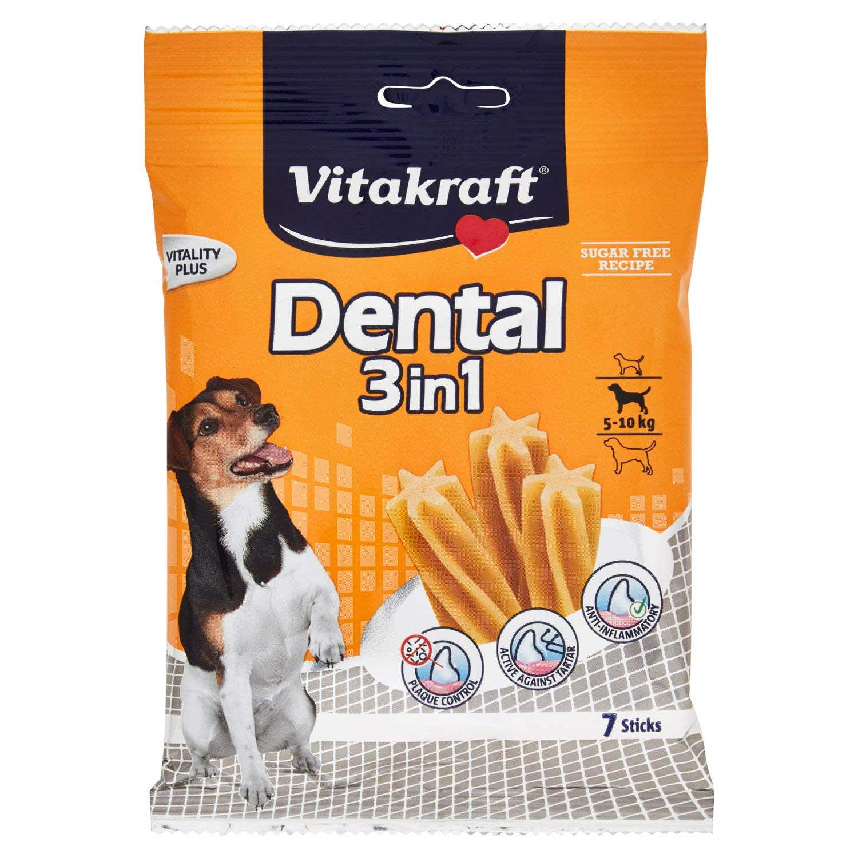 Vitakraft Cura Dentale Snack per Cani Dental 3/in 1/Sticks
