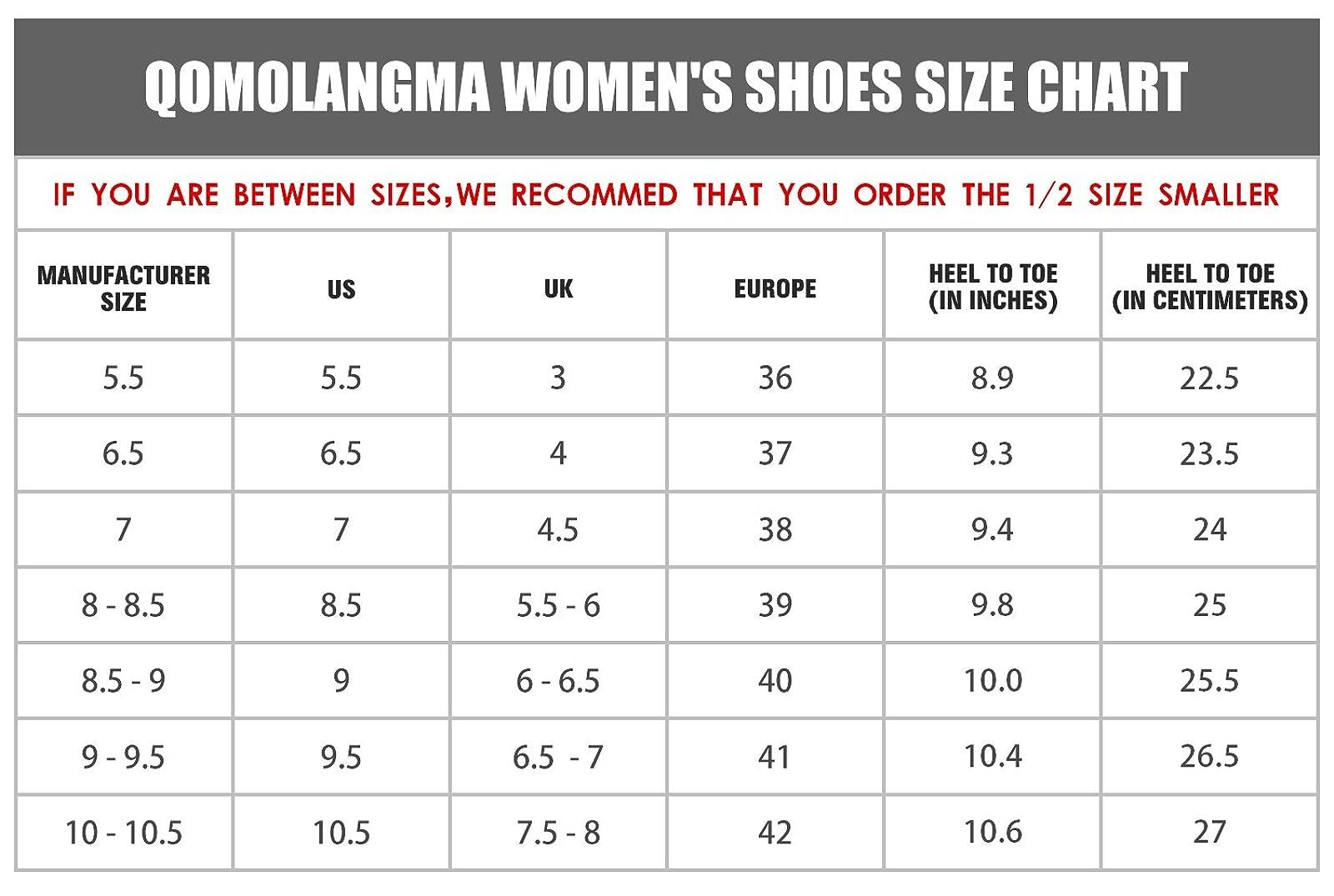 QOMOLANGMA Women's Waterproof Wide Hiking Shoes W91501 - 5