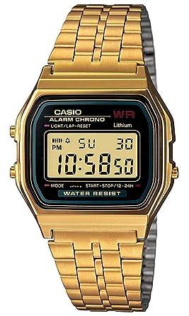 a3cd86b46c692b Casio Unisex Classic A159WGEA-1VT Vintage Watch Gold: Casio: Amazon.co.uk:  Watches