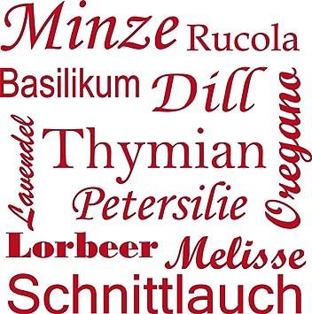 GRAZDesign 620045_40_031 Wandtattoo Gewürze - Kräuter für Küchen ...