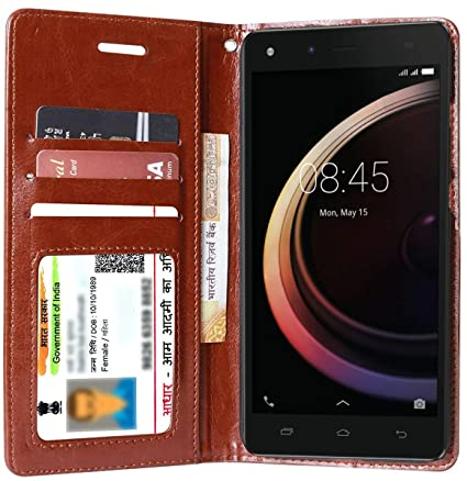 new style 2bb5b b0357 For Infinix Hot 4 Pro - Unistuff® Impact Resistant Wallet Folio Flip Cover  with [1 Cash/Bills slot] [1 ID Card Slot] [2 Debit/Credit Card slot] For ...