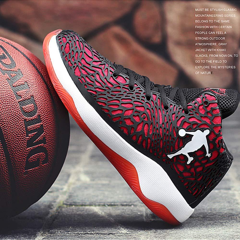JJK Zapatos para Hombre del Baloncesto Al Aire Libre para No Slip Baloncesto Botas De Alta Top Deportes Zapatilla De Deporte Respirables Ligeros Formadores,P/úrpura,39