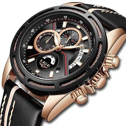 Amazon.com: Relogio Masculino LIGE - Reloj de pulsera para ...