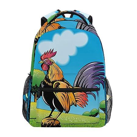 Montoj Rooster Cock Bolsa de Viaje Campus Mochila: Amazon.es ...