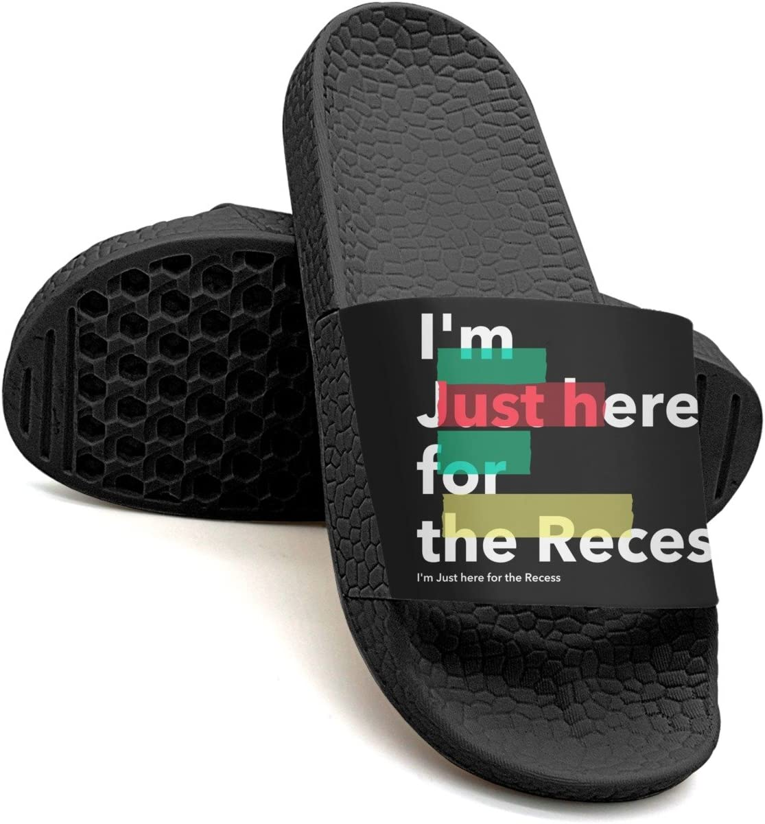 HSJDAPOCOAQ First Day Of School Im Just Here For The Recess Summer Slides For Men