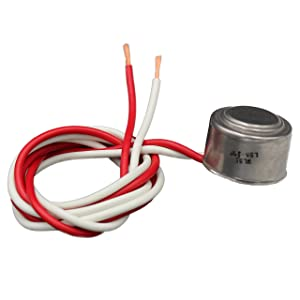 Supplying Demand Refrigerator Freezer Defrost Thermostat For Evaporator Coil Stat Compatible With GE, Whirlpool, LG, Samsung, Frigidaire … (55 Degree)