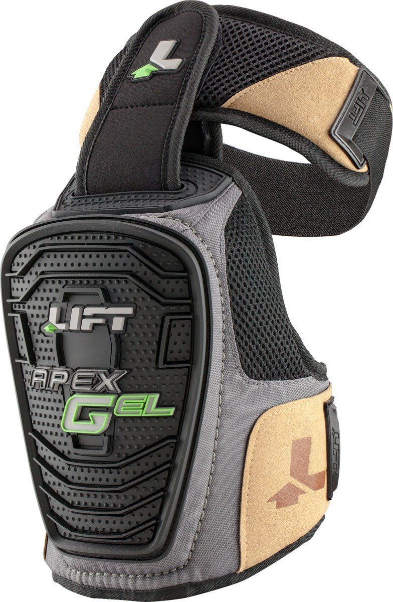 LIFT Safety Apex Gel Knee Guard (Black, One Size) - 1 Pair by LIFT Safety