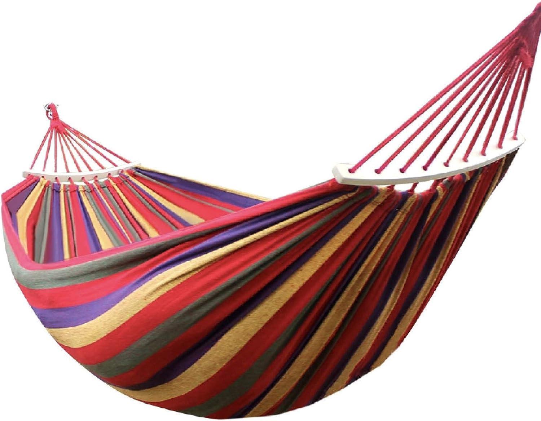 WENQITZTZ Tree Hammocks for Outside, Portable Rainbow Hammocks, 2-Person Cotton Hammock Bed, Mexicanas/Brazilian Type, Hammocks for Trees, Hammocks for Outside, Double Hammock