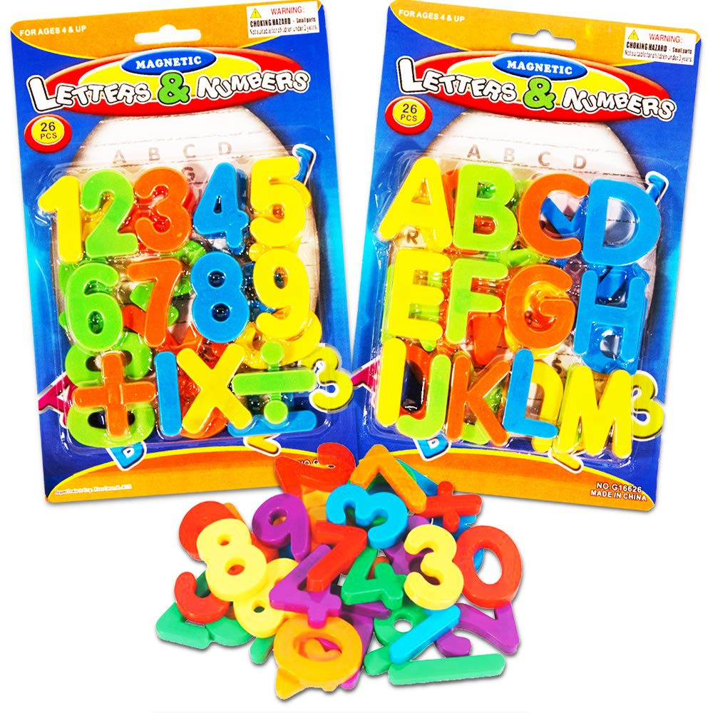 Good Old Values (2 Pack) Magnetic Learning Letters and Numbers, Total 52 Piece Set
