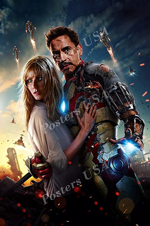 Amazon Com Premiumprints Marvel Iron Man 3 Textless Movie Poster Glossy Finish Made In Usa Fil294 24 X 36 61cm X 91 5cm Posters Prints