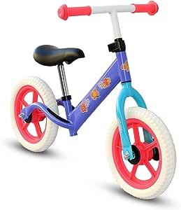 "Kids Child Push Balance Bike Bicycle 12"" Flowers"