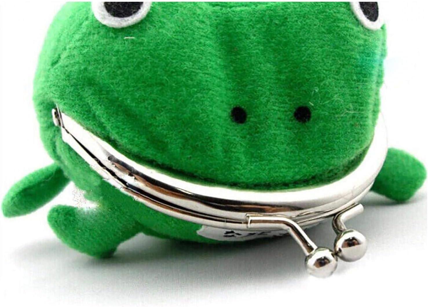 Odoukey Grenouille Verte Sac Mignon de Monnaie Cosplay Accessoires Peluche Porte-Monnaie Portefeuille pour Les Amateurs de Naruto et Cosplay